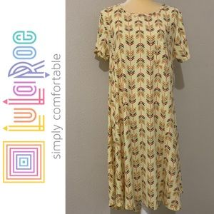 LuLaRoe Carly Pastel Yellow Dress Sz L